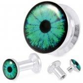 plug acier 8mm œil vert