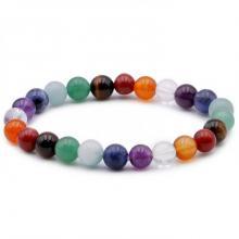 Bracelet Boule 08mm 7 Chakras Multicolor