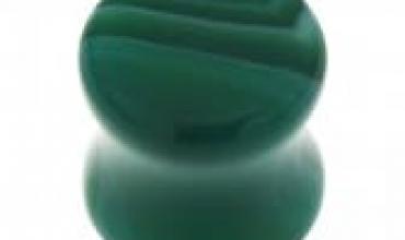 Plug 10mm effet jade verre