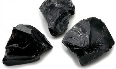 Pierre Brute Obsidienne Noire Mexique