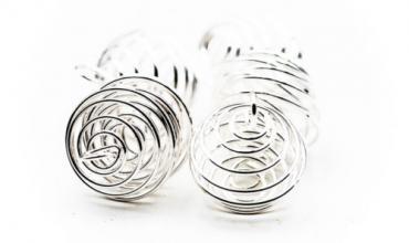 Collier pierre spirale acier