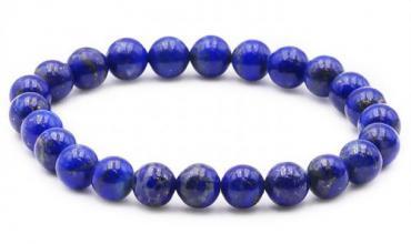 Bracelet Boule 08mm Lapis Lazuli AA